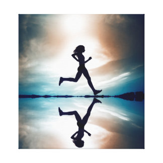 Running girl is your motivation canvas print