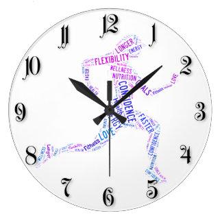 Running girl large clock