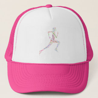 Running girl trucker hat