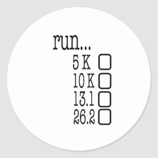 Running Goals Classic Round Sticker