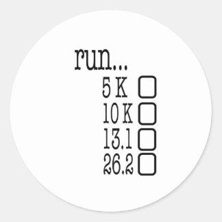 Running Goals Round Sticker