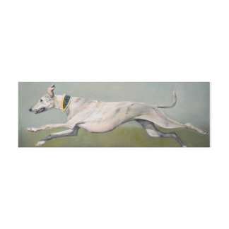 Running Greyhound Dog Art Canvas Print