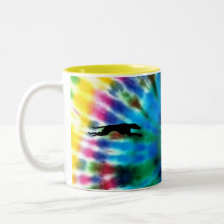 Running Greyhound Two-Tone Coffee Mug