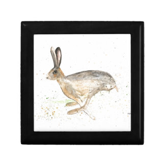 Running hare watercolour gift box