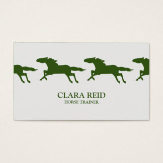 Running Horse CUSTOM COLOR   Business Card