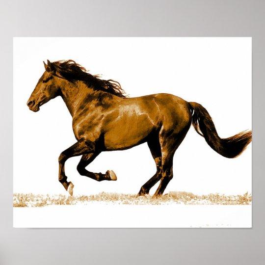 Running Horse Poster Print