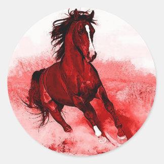 Running Horse Round Sticker