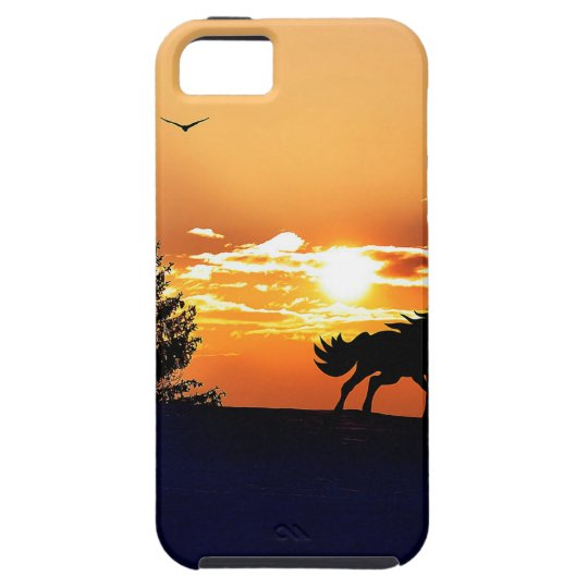 running horse  - sunset horse - horse case for the iPhone 5