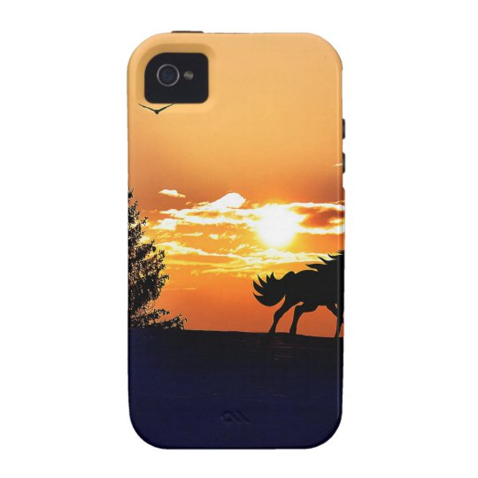 running horse  - sunset horse - horse Case-Mate iPhone 4 covers