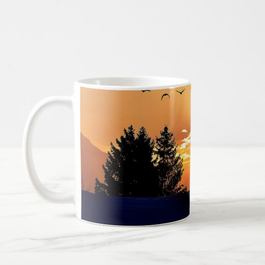 running horse  - sunset horse - horse coffee mug