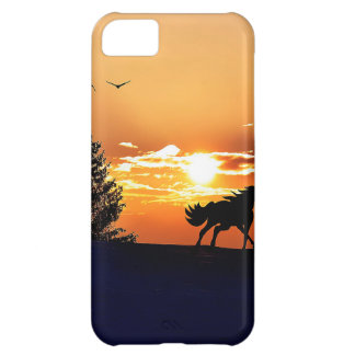 running horse  - sunset horse - horse cover for iPhone 5C