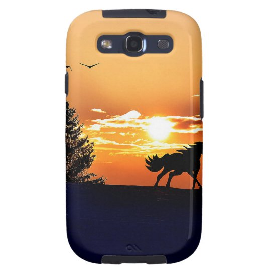 running horse  - sunset horse - horse galaxy s3 case
