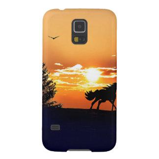 running horse  - sunset horse - horse galaxy s5 case