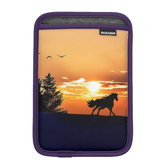 running horse  - sunset horse - horse iPad mini sleeve