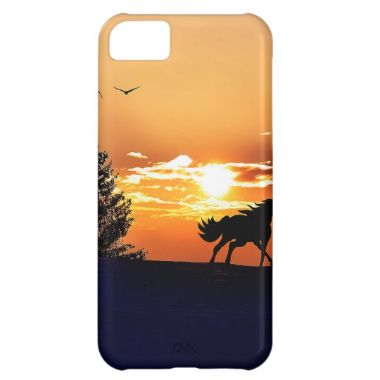 running horse  - sunset horse - horse iPhone 5C case