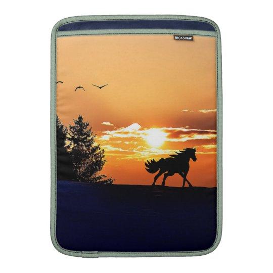 running horse  - sunset horse - horse MacBook sleeves