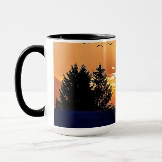 running horse  - sunset horse - horse mug
