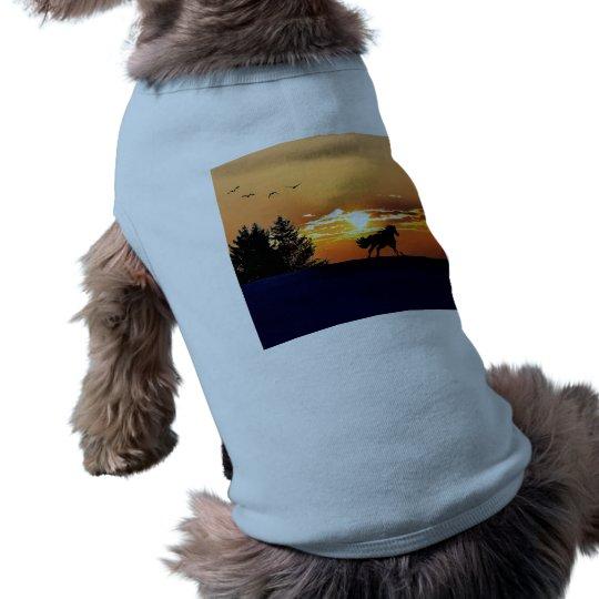 running horse  - sunset horse - horse shirt
