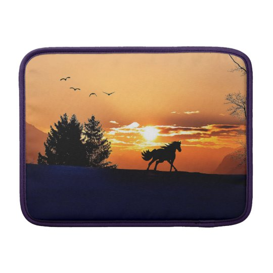 running horse  - sunset horse - horse sleeve for MacBook air