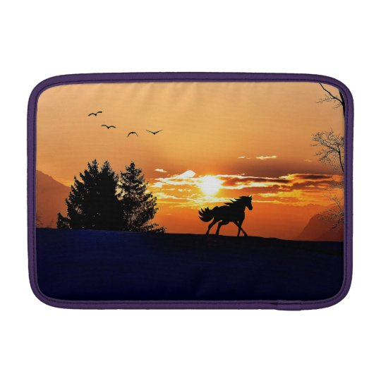 running horse  - sunset horse - horse sleeve for MacBook air