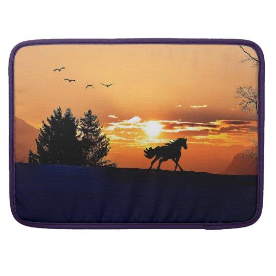 running horse  - sunset horse - horse sleeves for MacBook pro