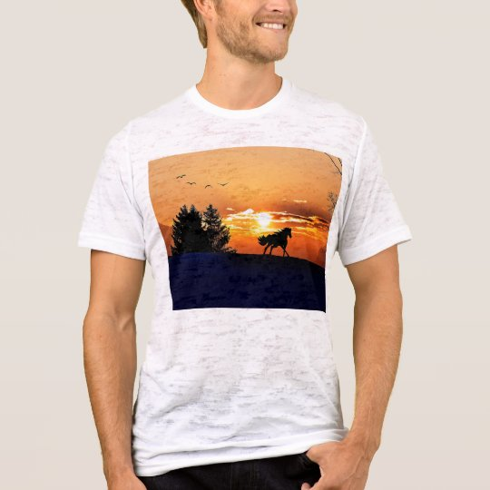 running horse  - sunset horse - horse T-Shirt