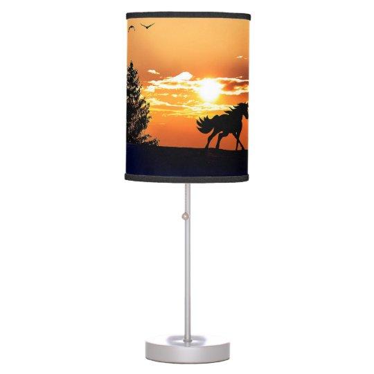 running horse  - sunset horse - horse table lamp