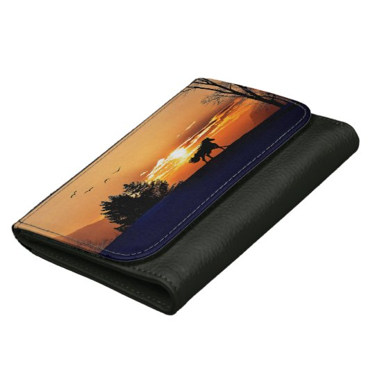running horse  - sunset horse - horse women's wallet