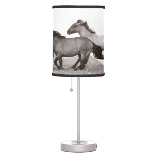 Running horse table lamp