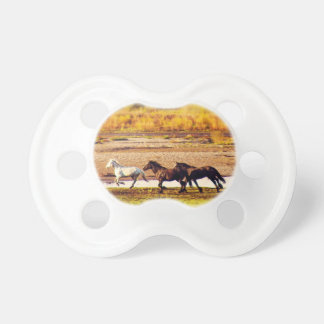Running Horses Baby Pacifier