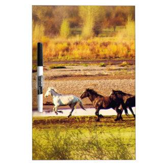 Running Horses Dry Erase Board