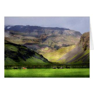 Running Horses Iceland Card