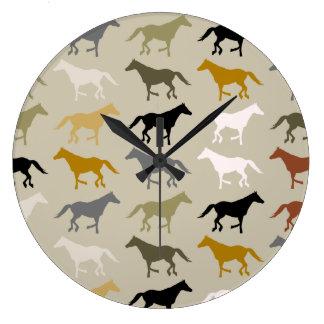 Running Horses Pattern Wall Clock