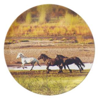 Running Horses Plate
