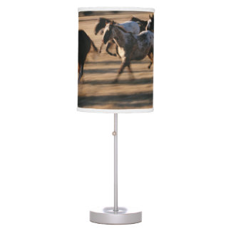 Running Horses Table Lamp