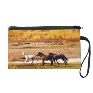 Running Horses Wristlet Clutches