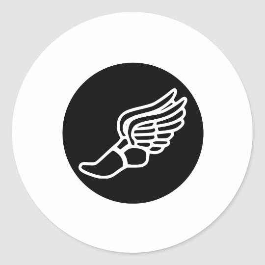 Running Icon Classic Round Sticker