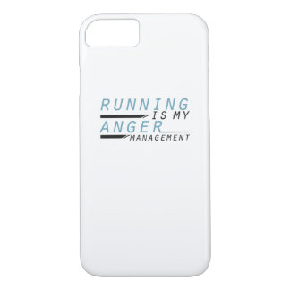 Running is my anger management Runner Gift iPhone 8/7 Case