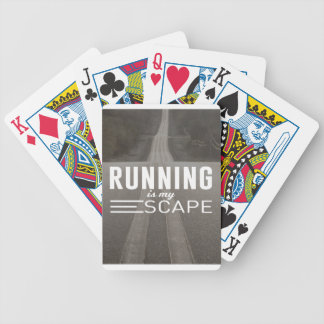 Running Is My Escape Bicycle Playing Cards