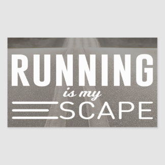 Running Is My Escape Sticker