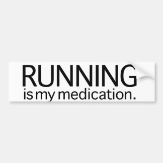 Running Is My Medication Bumper Sticker