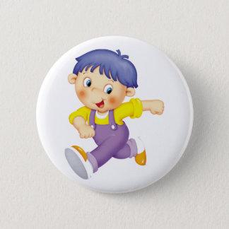 Running Kid 2 Inch Round Button