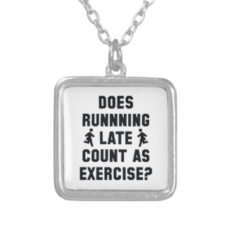 Running Late Silver Plated Necklace