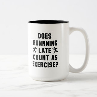 Running Late Two-Tone Coffee Mug