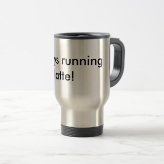 Running latte travel mug