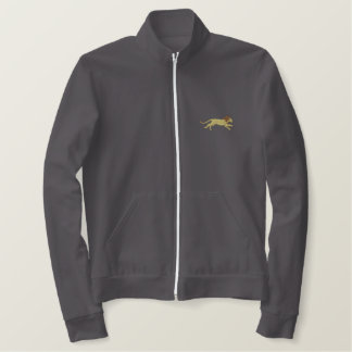 Running Lion Embroidered Jacket