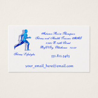 running man for logo2, Fitness Lifestyles, Business Card