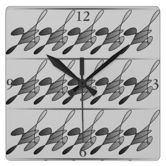 Running Man Square Clock