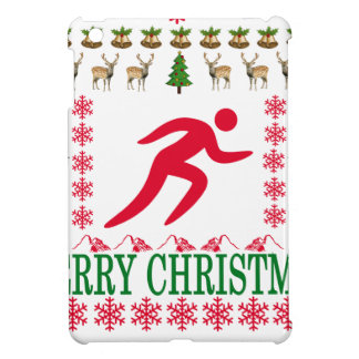 RUNNING MERRY CHRISTMAS . iPad MINI CASES