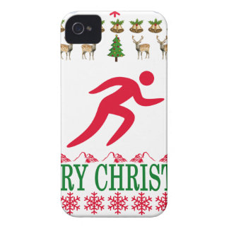 RUNNING MERRY CHRISTMAS . iPhone 4 Case-Mate CASE